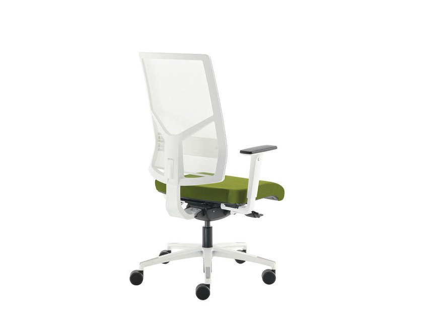 Swivel mesh task chair SAX RETE WHITE | Task chair - Sesta