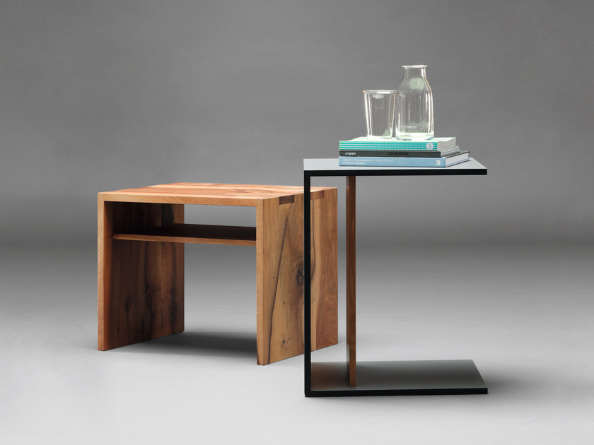 Rectangular wooden side table SC15 | Wooden coffee table - Janua