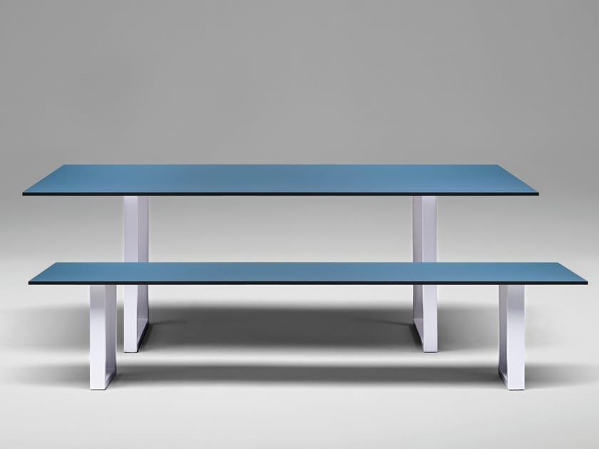 Tavolo rettangolare in HPL SC25 - METALL | Tavolo in HPL - Janua