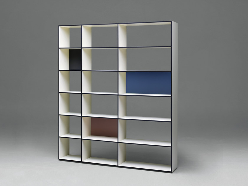Open double-sided HPL bookcase SC27 | HPL bookcase - Janua