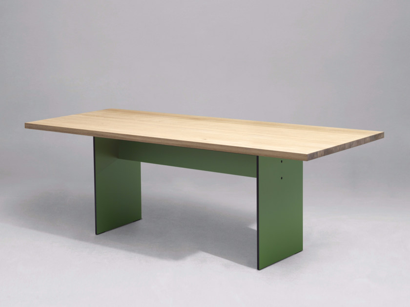 Contemporary style rectangular wooden kitchen table SC42 | Wooden table - Janua