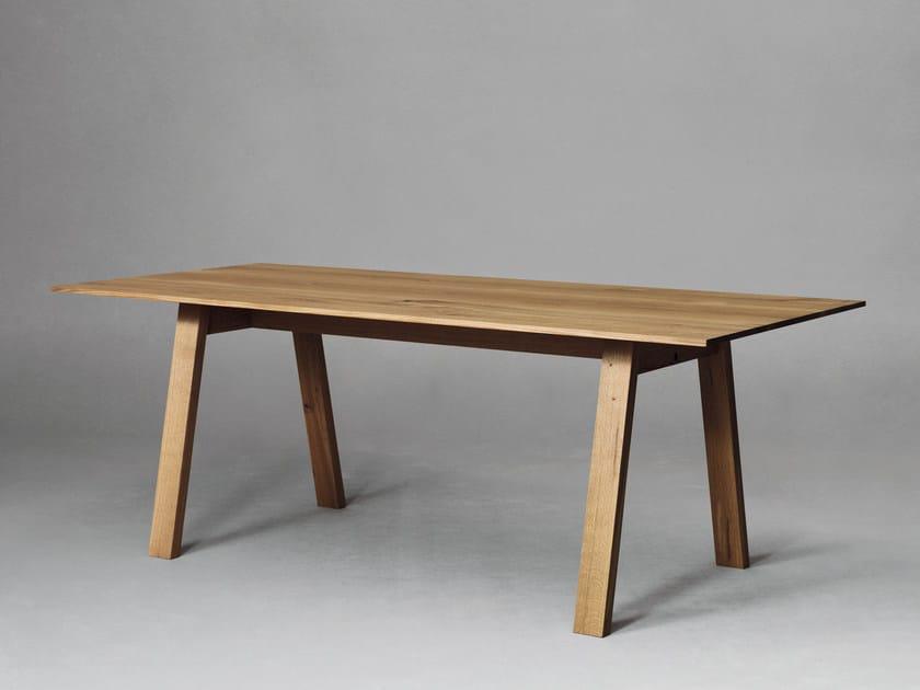 Rectangular wooden table SC50 | Wooden table - Janua