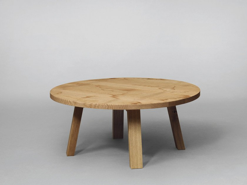 Round wooden coffee table SC51 | Wooden coffee table - Janua
