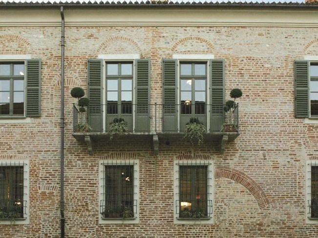Porta finestra a taglio termico in legno sc80 100 porta - Aeratore termico per finestra ...