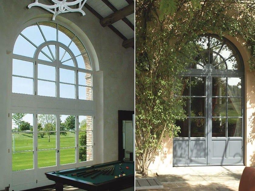 Porta d 39 ingresso termoisolante in legno per esterno con - Portoni blindati per esterno ...
