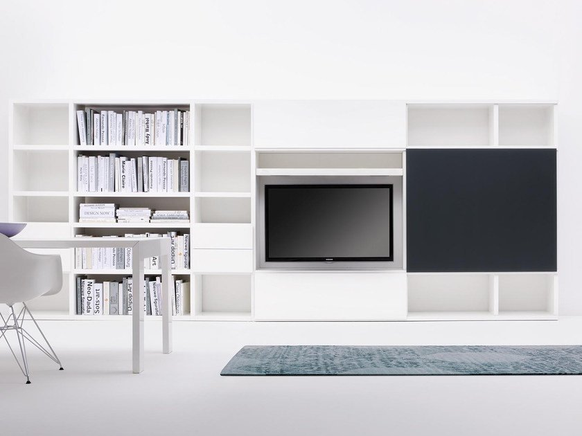Open modular bookcase SCENAPERTA | Bookcase by Silenia