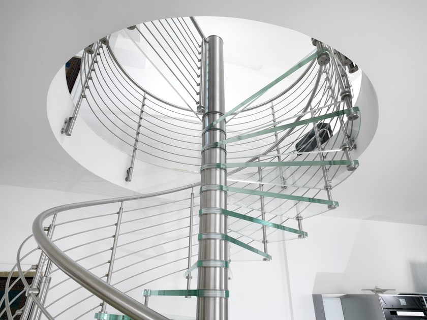 Glass Spiral staircase SCIRIA CLARITY by Siller Treppen