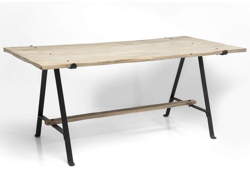 Rectangular steel and wood table SCISSORS | Table - KARE-DESIGN