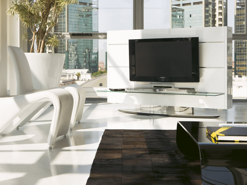 Swivel TV cabinet with shelves SCREEN - Pacini & Cappellini