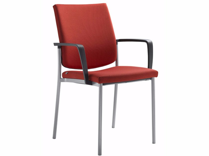 Stackable training chair with armrests SEANCE 095-K-B-N - LD Seating