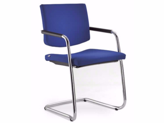 Cantilever stackable training chair with armrests SEANCE 096-KZ-N by LD Seating