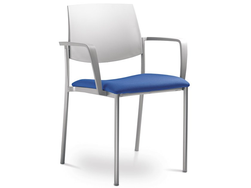 Stackable training chair with armrests SEANCE 180-K-B-N - LD Seating