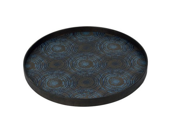 Round wooden tray SEASIDE BEADS - Notre Monde