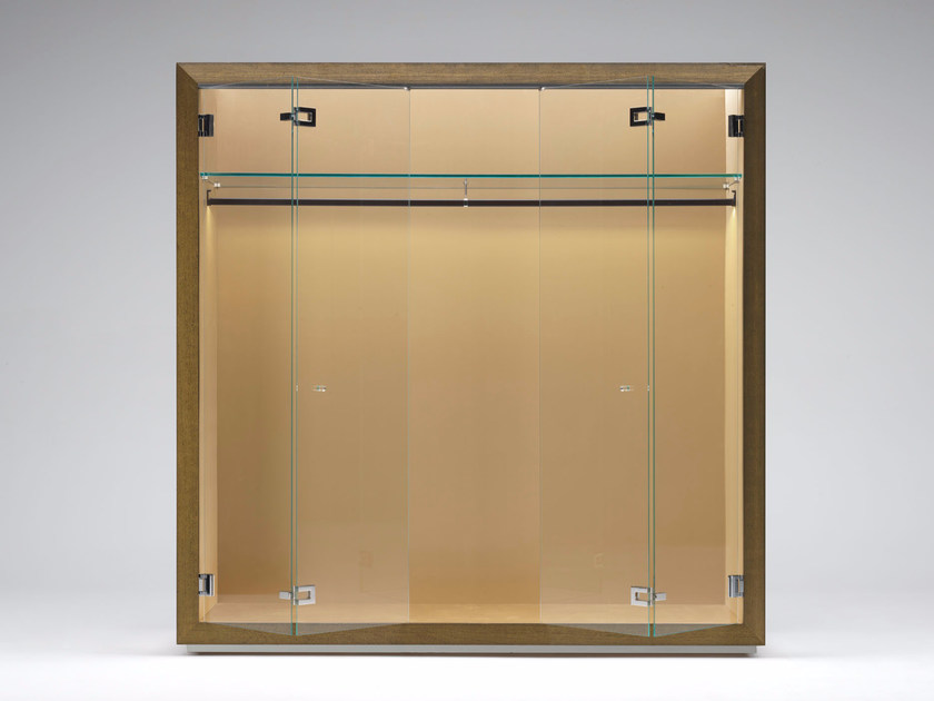 Wood and glass wardrobe SECRET DREAM - Paolo Castelli