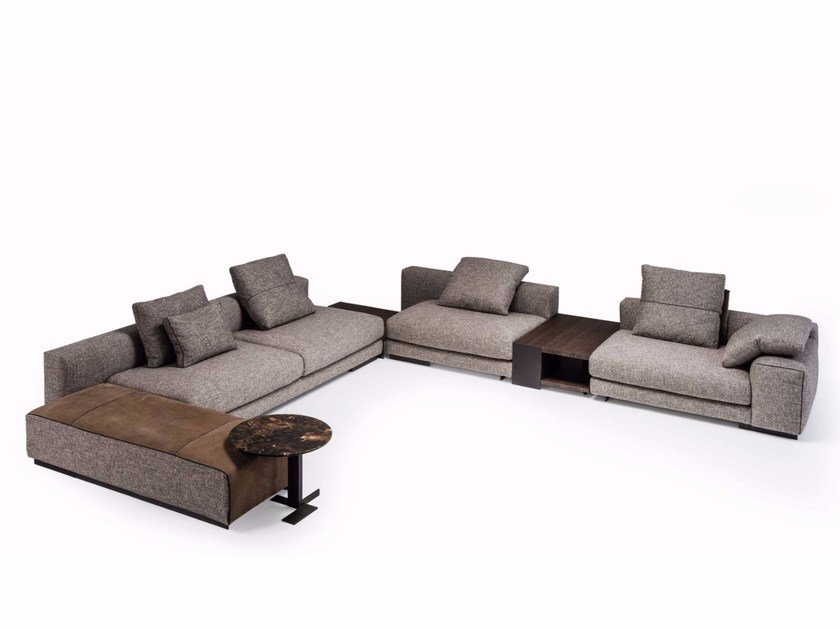 Corner sectional fabric sofa ATLAS | Sectional sofa - Arketipo