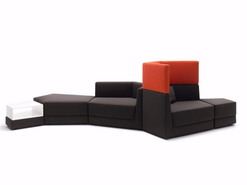 Sectional modular fabric sofa SCOPE | Sectional sofa - COR Sitzmöbel Helmut Lübke