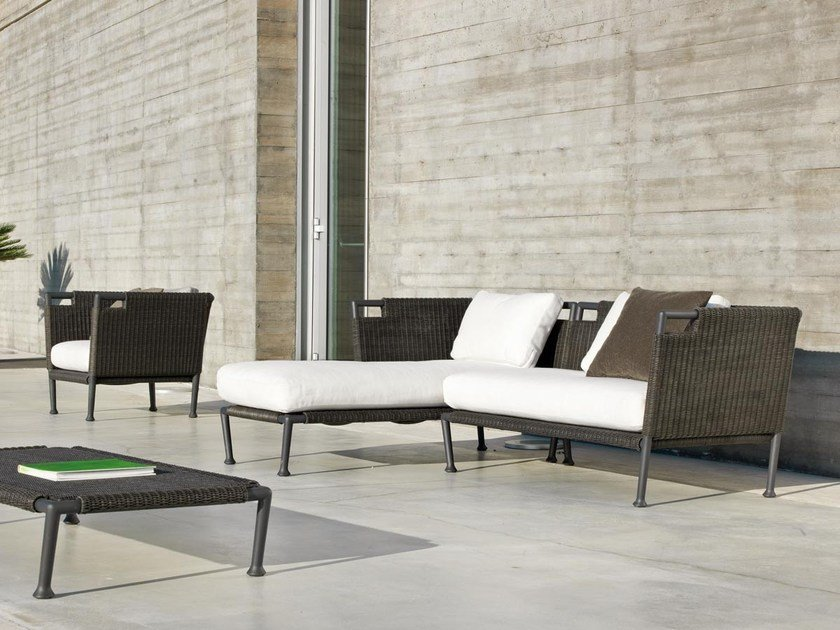 Sectional sofa with chaise longue LAWRENCE | Sectional sofa by Unopiù
