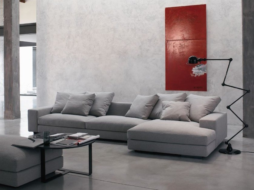 Sectional fabric sofa with removable cover HOLDEN | Sectional sofa by Verzelloni