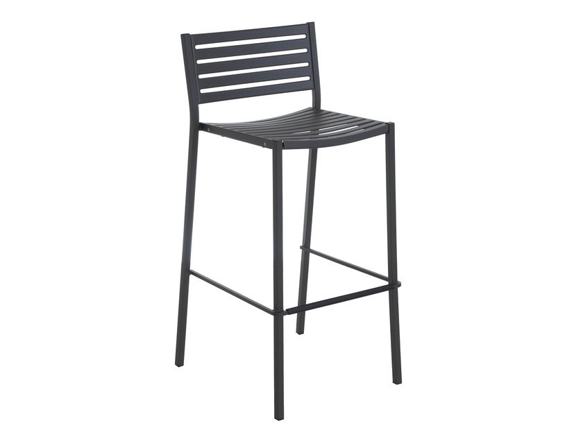 High stackable steel garden stool SEGNO | Stool - EMU Group S.p.A.