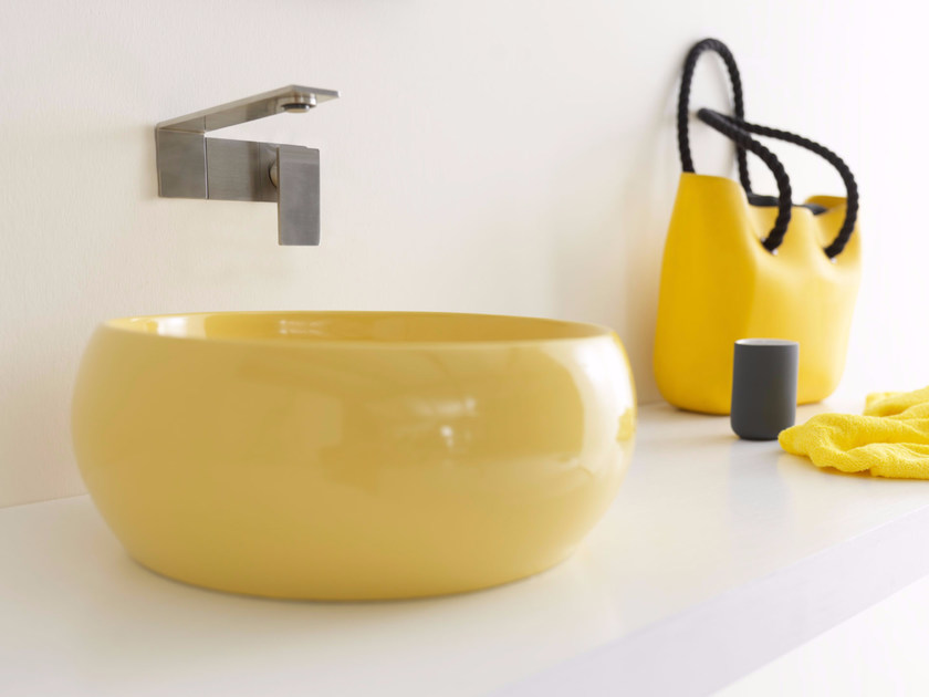 Lavabo da appoggio rotondo in ceramica SELFIE YOUNG | Lavabo - Alice Ceramica