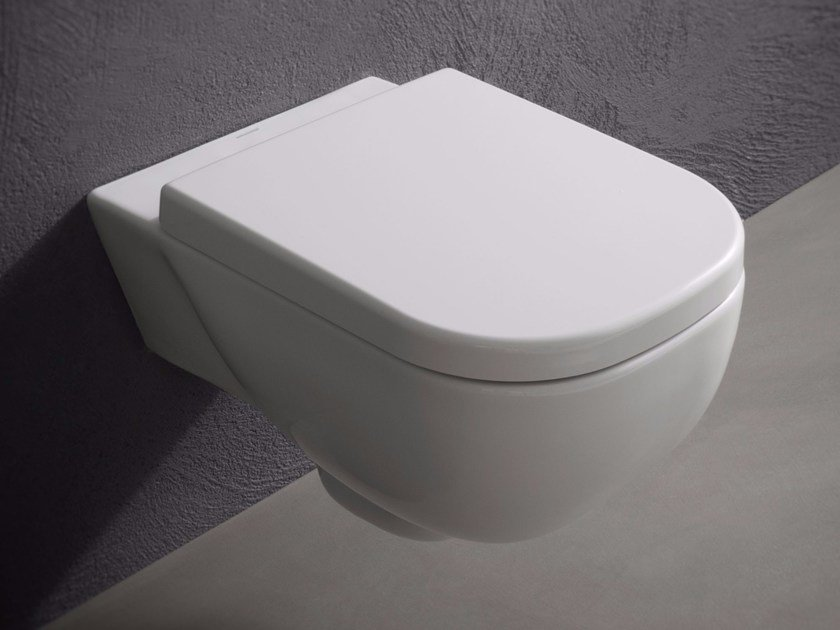 Wall-hung ceramic toilet SELLA | Toilet - Antonio Lupi Design®