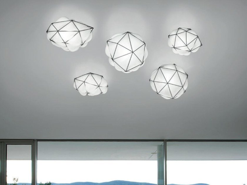 LED direct light blown glass ceiling lamp SEMAI AP - Vetreria Vistosi