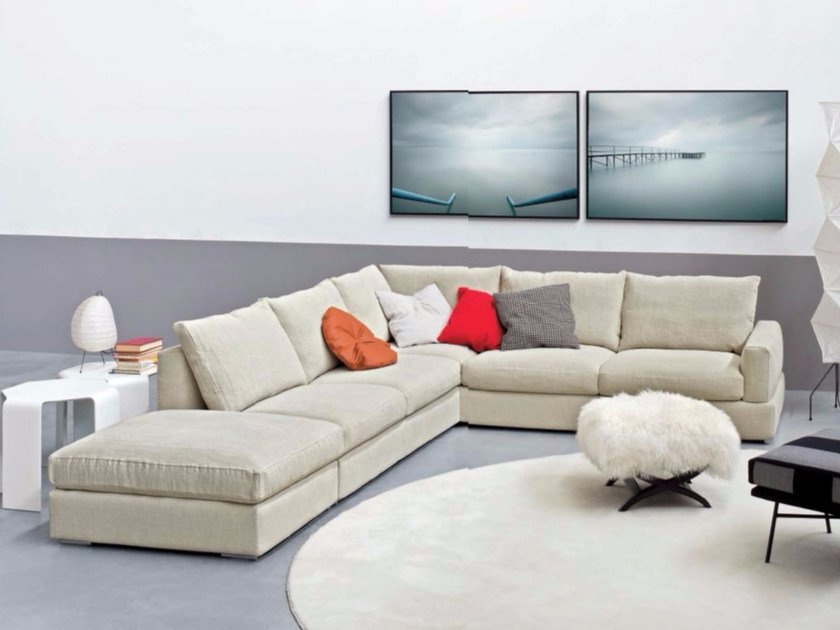 Corner upholstered fabric sofa SENNA | Corner sofa - arflex
