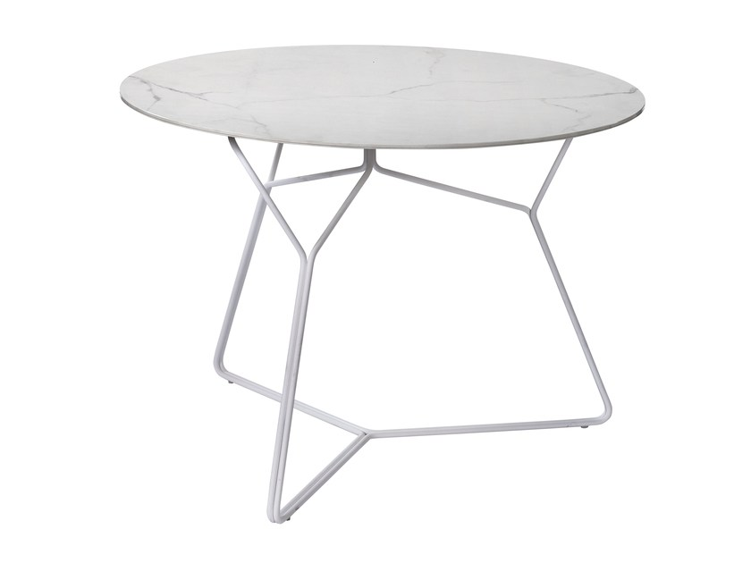 Round ceramic garden table SERAC | Ceramic table - OASIQ