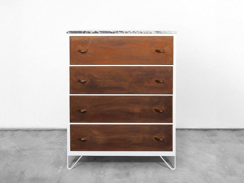 Free standing Corten™ chest of drawers SETTIMA | Corten™ chest of drawers - Officine Tamborrino