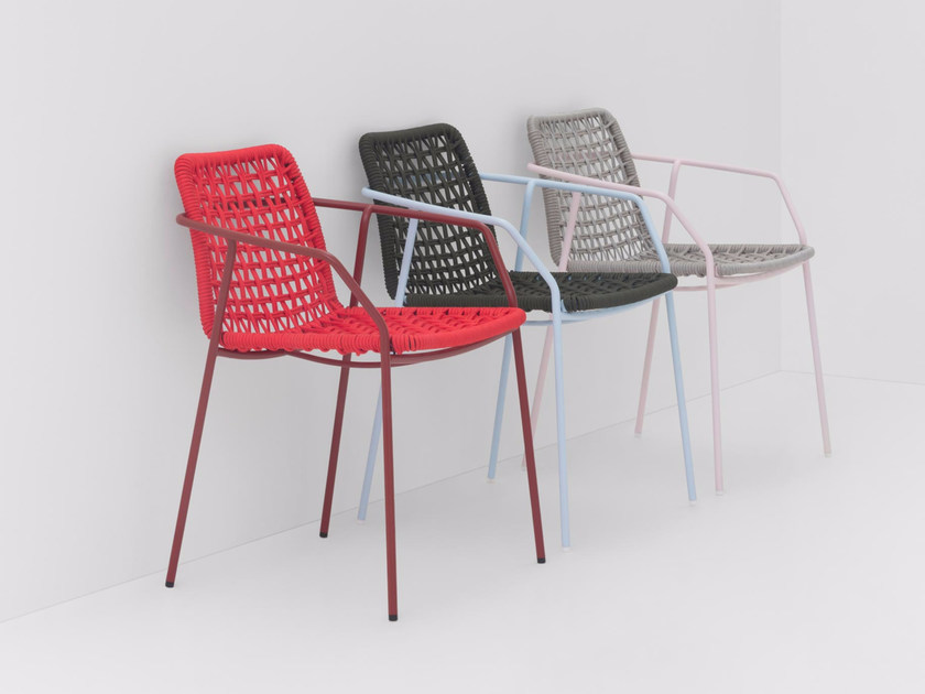 Rope chair with armrests SEY | Chair - BILLIANI