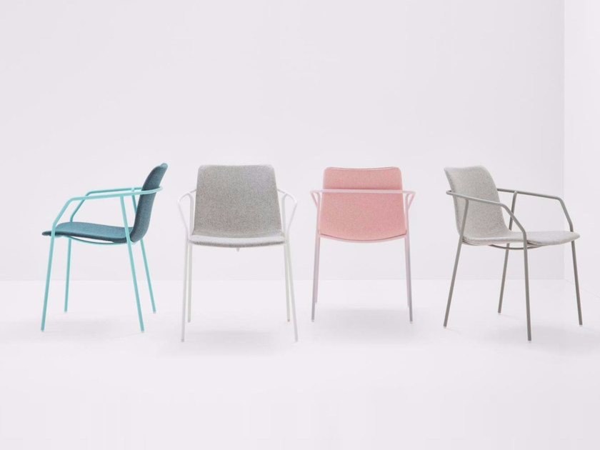 Fabric chair with armrests SEY | Fabric chair by BILLIANI