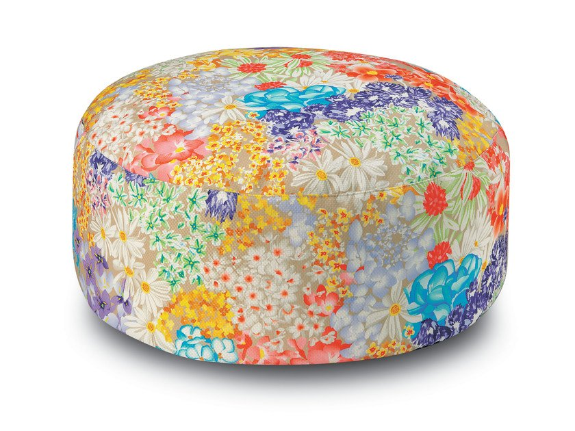Fabric pouf with removable lining SEYCHELLES | Pouf - MissoniHome