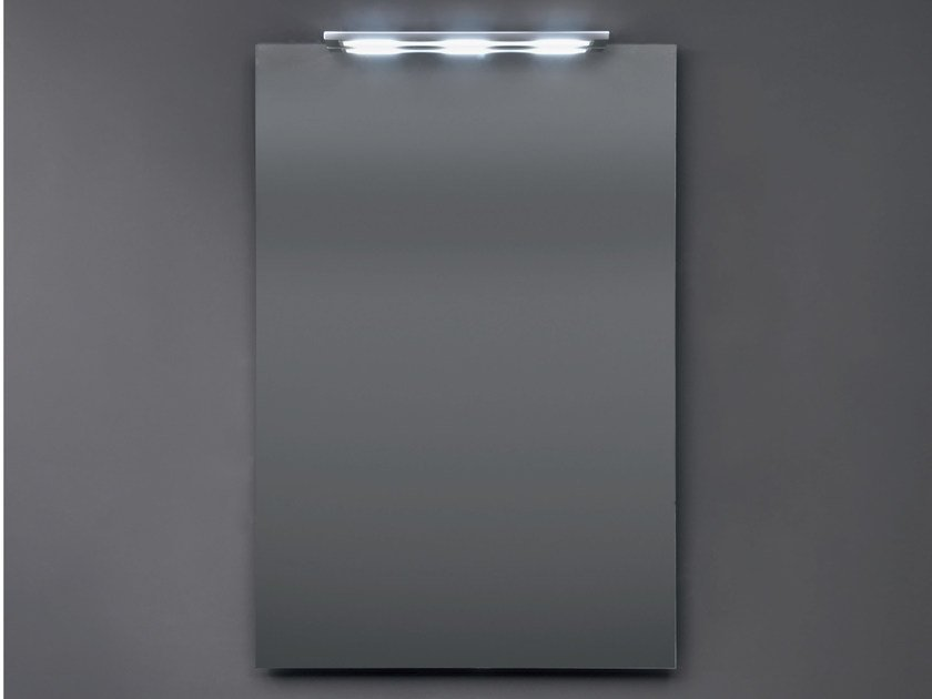 Rectangular wall-mounted mirror with integrated lighting SHADOW | Rectangular mirror by Nic Design