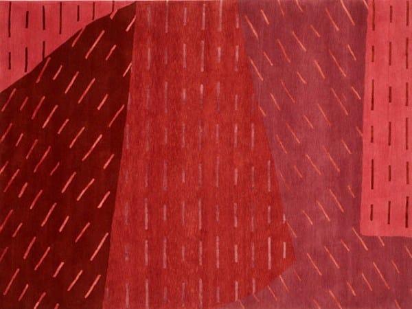 Handmade rectangular rug SHIMMER - Deirdre Dyson