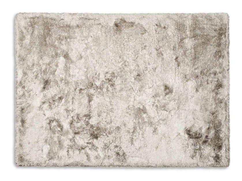 Long pile rectangular polyester rug SHINY - Calligaris