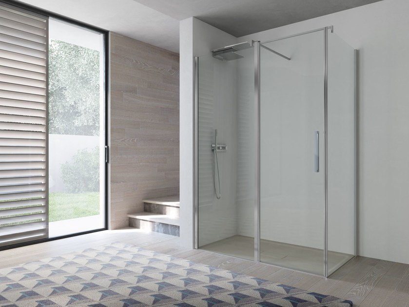 Corner glass shower cabin OMEGA | Shower cabin - IdeaGroup