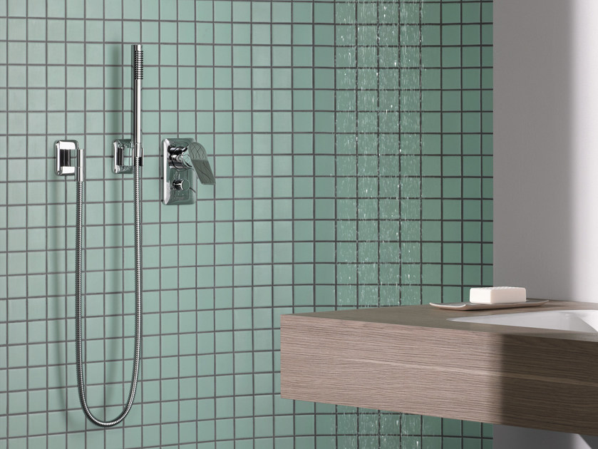 3 hole shower mixer with hand shower LISSÉ | Shower mixer - Dornbracht