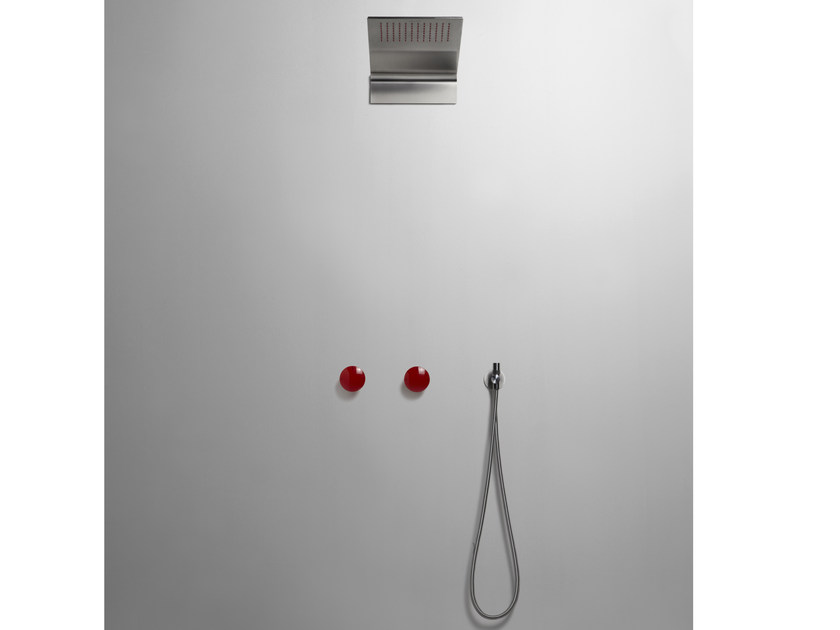 3 hole shower tap with hand shower and overhead shower MAYDAY | Shower tap with hand shower by Antonio Lupi Design