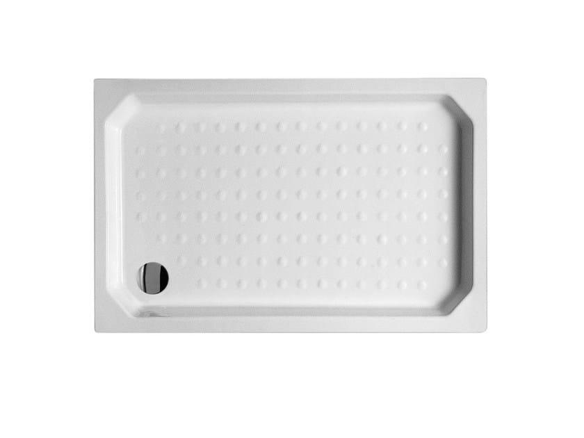 Built-in rectangular ceramic shower tray Shower tray - Alice Ceramica