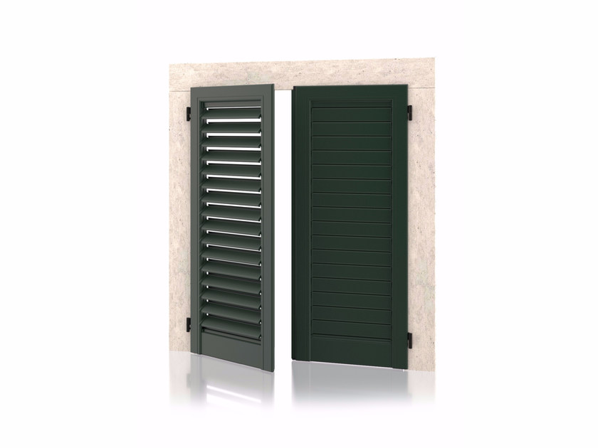 Shutter with adjustable louvers with planar louvers without frame Wall 011/80  Planar Adjustable by Kikau