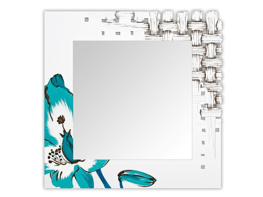Square wall-mounted framed mirror SI-075Q-SP | Mirror - L.A.S.