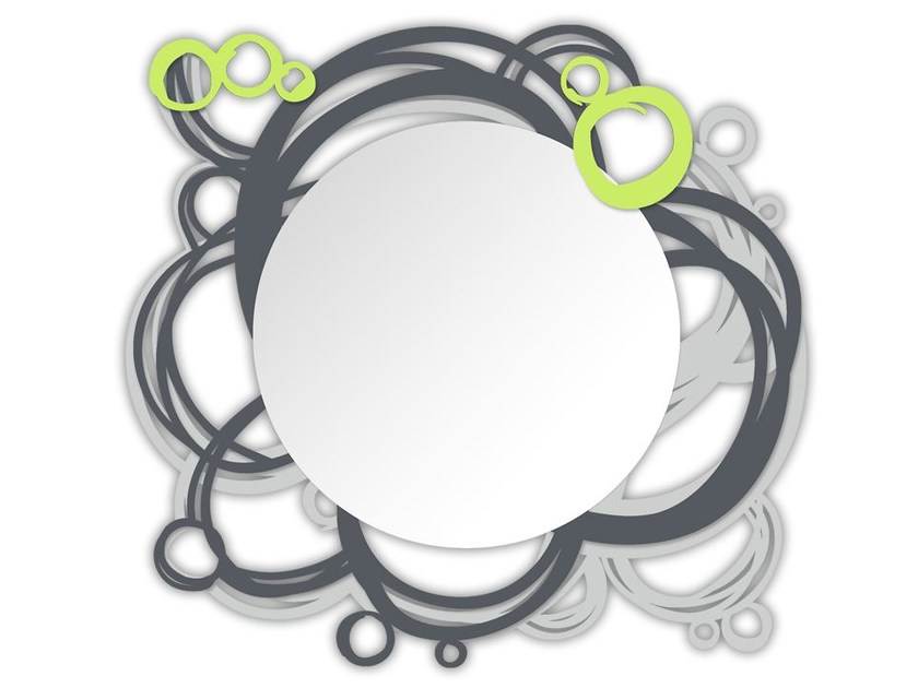 Round wall-mounted framed mirror SI-204Q-SP | Mirror - L.A.S.