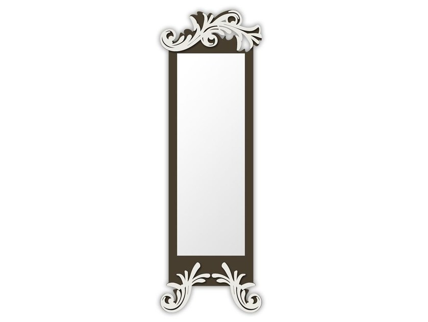 Rectangular wall-mounted framed mirror SI-250-SP | Mirror - L.A.S.