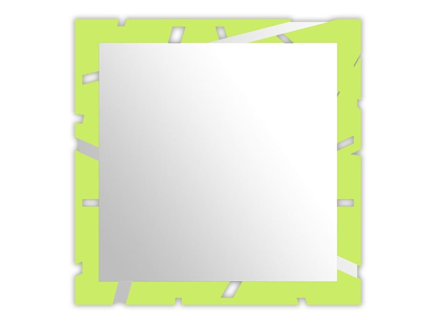 Wall-mounted framed mirror SI-318 | Mirror by LAS