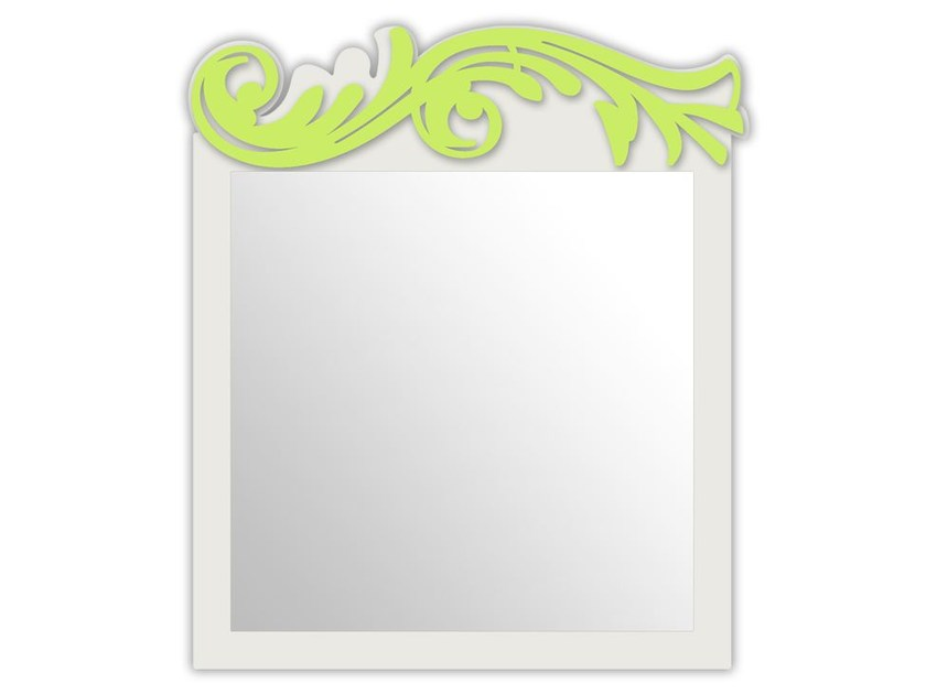 Square wall-mounted framed mirror SI-319 | Mirror by LAS
