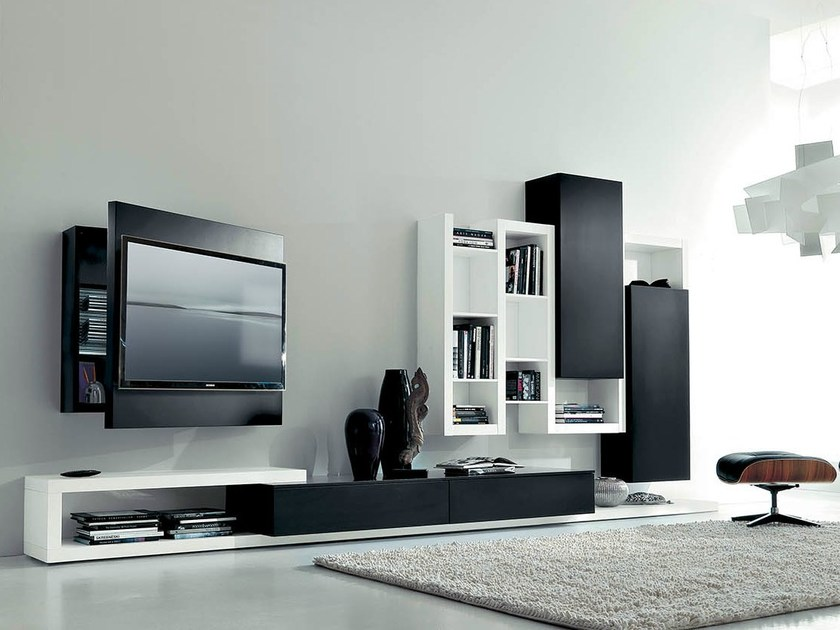 Lacquered TV wall system SIDE 11 - Fimar