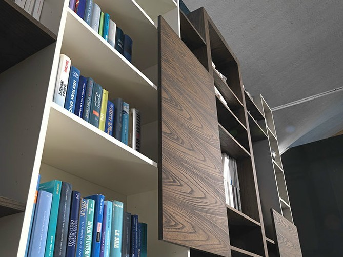 Libreria a parete sospesa SIDE 15 - Fimar