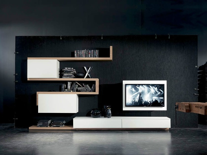 TV wall system SIDE 7 by Fimar