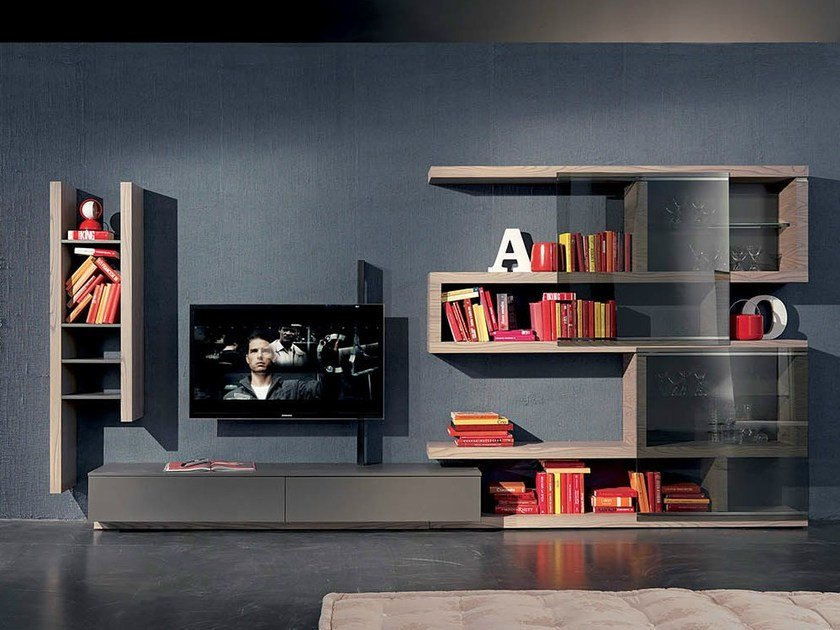 TV wall system SIDE 8 by Fimar
