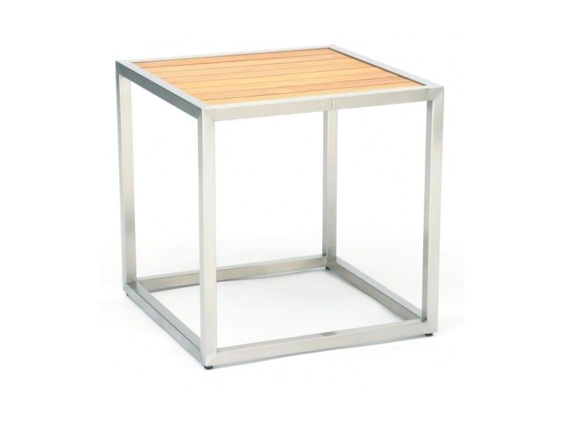Tavolino di servizio quadrato in acciaio e legno CITYSCAPE | Tavolino di servizio by 7OCEANS DESIGNS